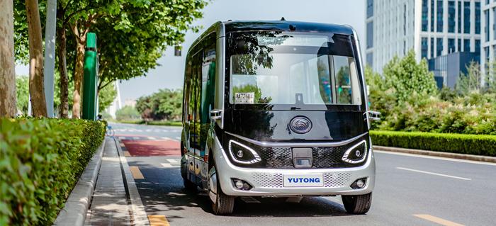自主研发L4级自动驾驶巴士示范运行,推出5G智能公交系统解决方案。