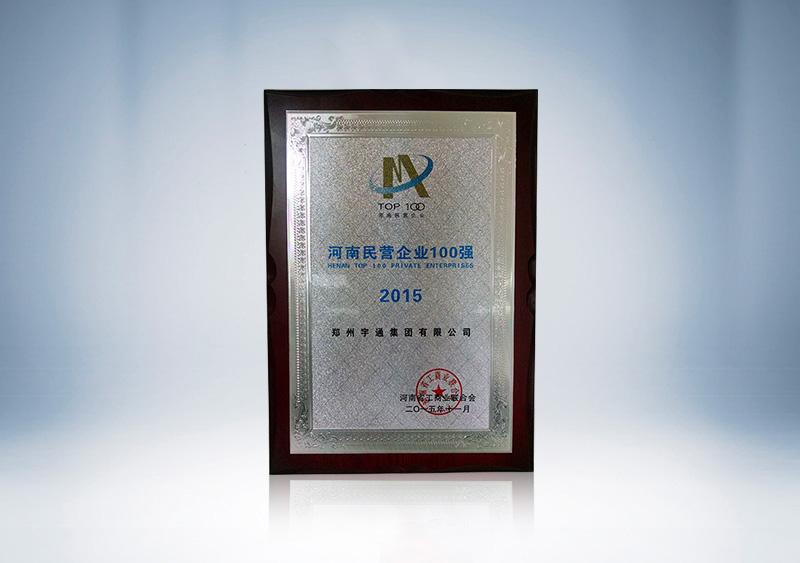 2015年河南民營企業100強