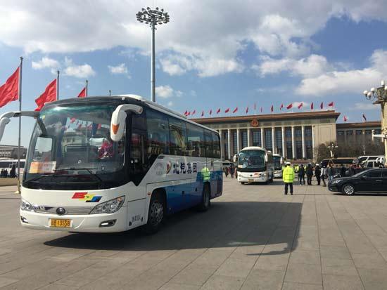 厉害了自主品牌!全国两会中巴车首次全采用宇通T7