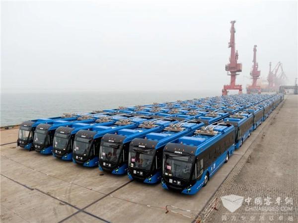 全球最大双源无轨电车订单!130辆宇通客车发往墨西哥