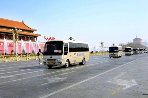 T7和新能源领衔,宇通客车连续13年服务全国两会