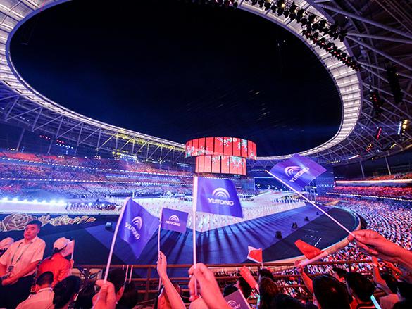 宇通成为全国民族运动会首席合作伙伴,1800辆宇通客车服务盛会