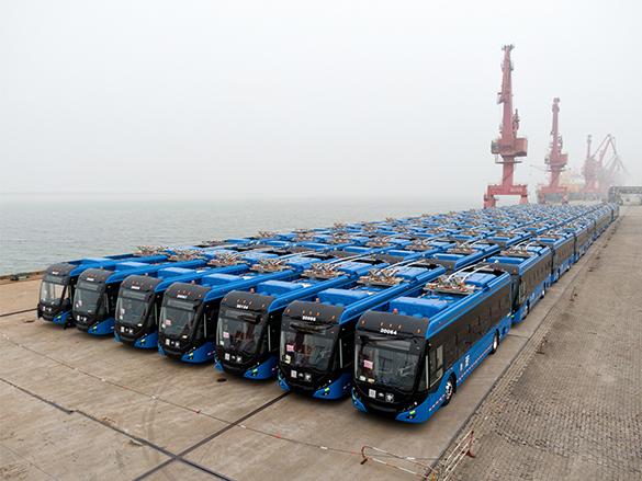 全球最大双源无轨电车订单!130辆宇通客车将发往墨西哥