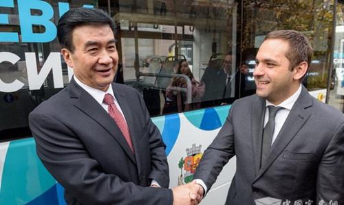 中东欧国家地方领导人会议 保加利亚首批纯电动客车宇通造