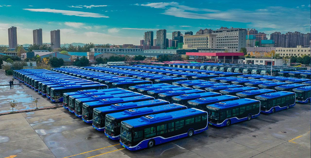 218台宇通新能源公交在石家庄上线运营!