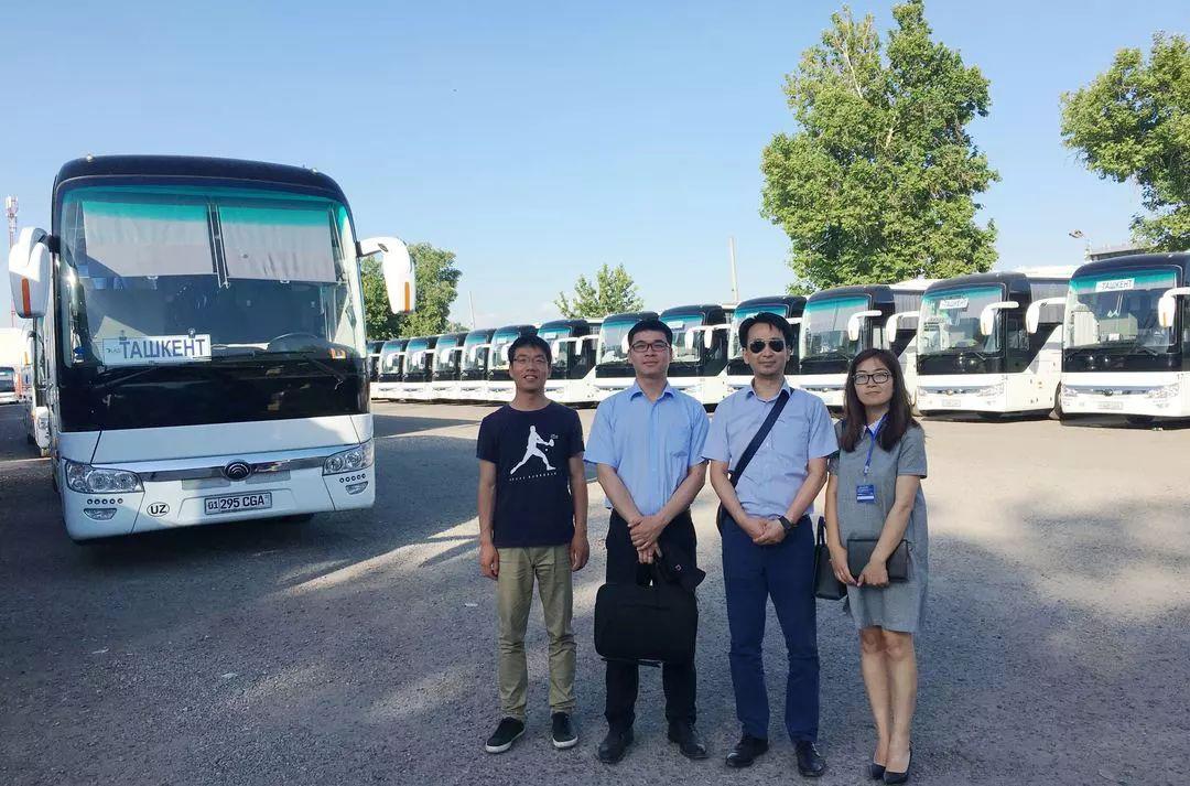 总统督办乌兹别克较大批量168台宇通大巴成功交付
