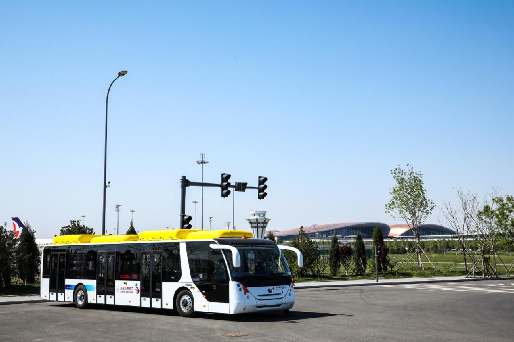 12辆宇通纯电动机场摆渡车交付东航
