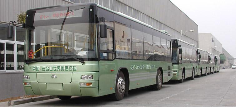 青山绿水好客车:宇通公交闪亮登场云台山