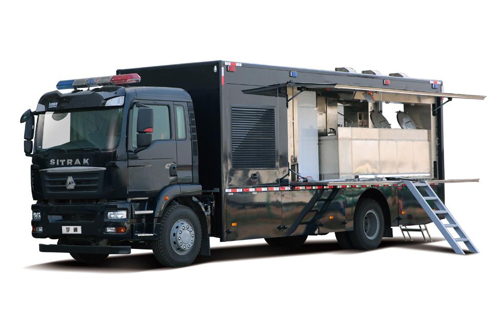 ZK5189XCCD61警用炊事车 供餐供电  功能全面